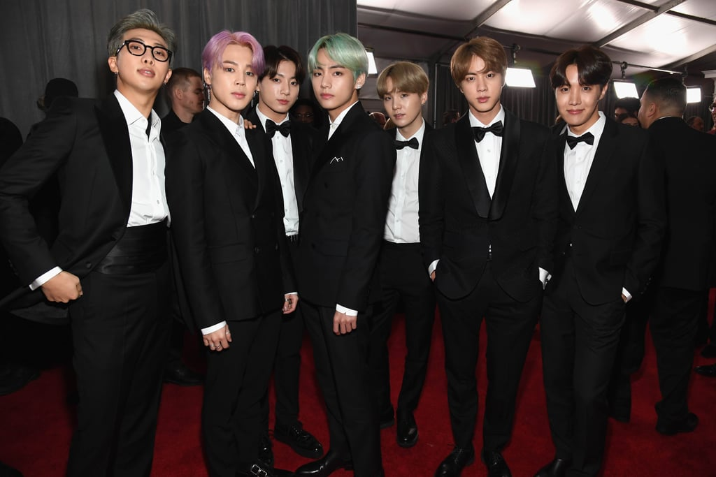bts grammys red carpet 2019 popsugar beauty australia bts grammys red carpet 2019 popsugar