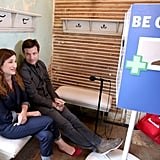Jason Bateman and Kathryn Hahn were some of the first celebrities to check out the Funny or Die Clubhouse and Facebook Pop-Up headquarters.