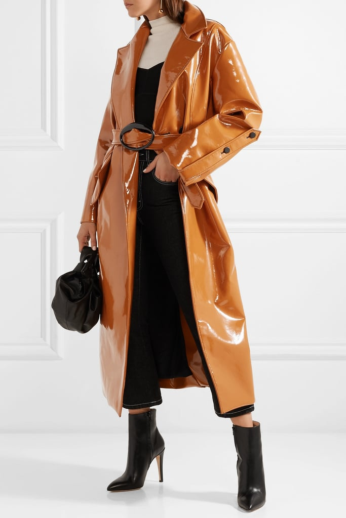 Ellery Nine to Five Pod Vinyl Trench Coat