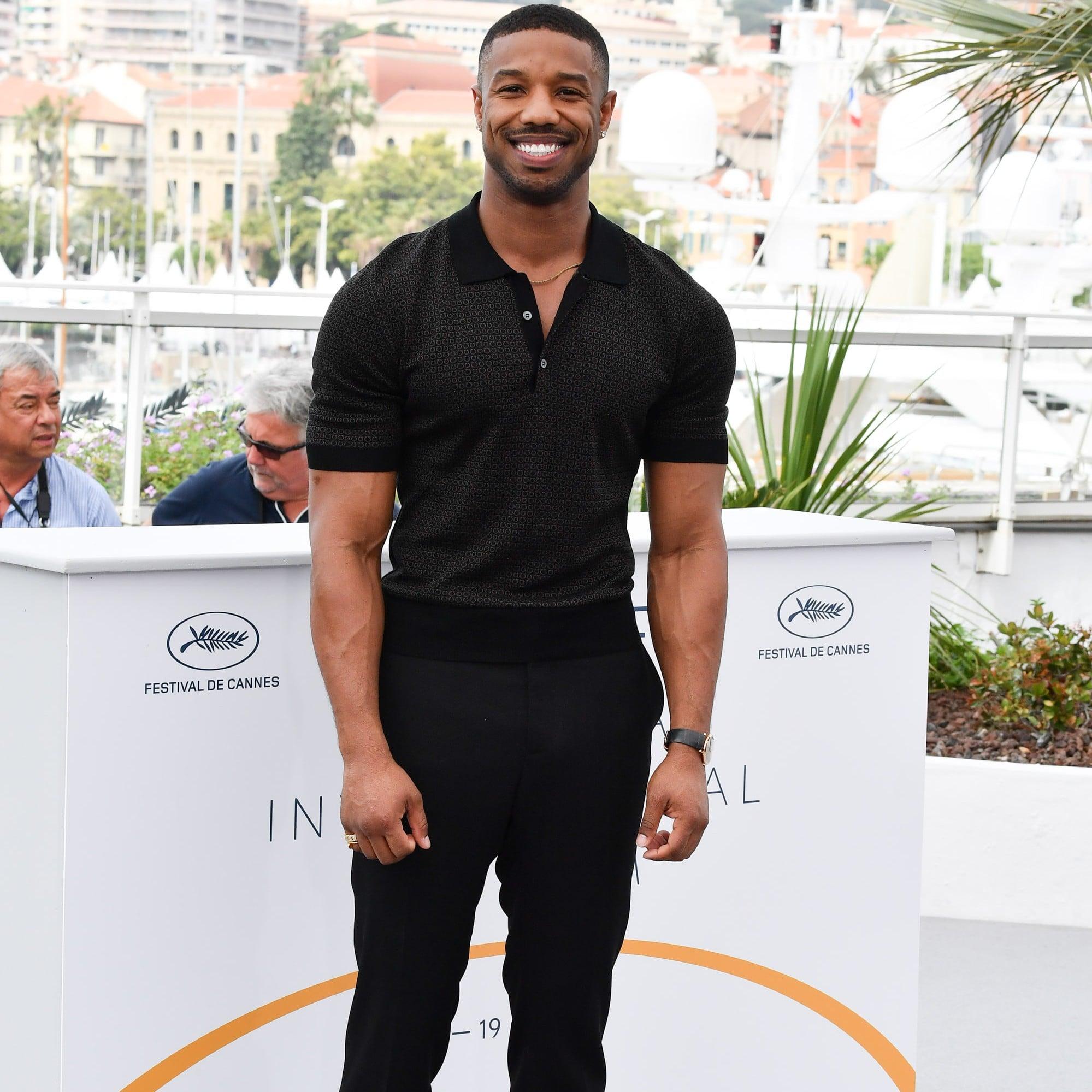 Michael B Jordan At Cannes Film Festival 2018 Pictures Popsugar