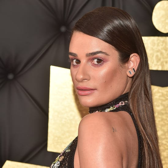 Lea Michele Makeup and Hair Grammys 2017