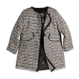 Milly Minis Metallic Tweed A-Line Coat