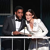 Jharrel Jerome and Millie Bobby Brown at the 2020 SAG Awards