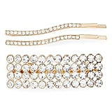 Something Navy Crystal 3-Piece Hair Clip & Bobby Pin Set
