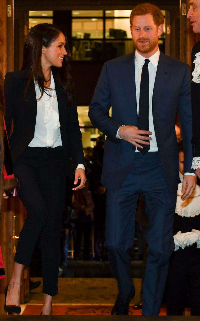 Prince Harry and Meghan Markle made a glamorous pair as they arrived at the Endeavour Fund Awards at Goldsmith's Hall in London on Thursday evening. Harry looked handsome in a blue suit, while Meghan stunned in a black pantsuit and white blouse. The award ceremony is organized by The Endeavour Fund, which was set up in 2012 by Prince Harry and the Duke and Duchess of Cambridge with the aim of supporting the recovery of wounded, injured, and sick servicemen and women, encouraging them to rediscover their self-belief through sport and adventure. The awards celebrate the achievements of people who have taken part in such endeavors in 2017.  Ahead of the ceremony, Harry and Meghan met some of the worthy nominees and also chatted to adventurer and author Levison Wood, a former serviceman himself, who was recently announced as the first ever ambassador of the fund. As always, the engaged couple looked relaxed and happy to be in each other's company, getting us even more excited for their upcoming wedding.      Related:                                                                                                           The Major Way Prince Harry's Wedding Would Differ From Prince William's