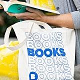 Books Natural Canvas Tote Bag