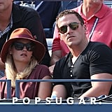 Elisha Cuthbert watched the US Open on Saturday.