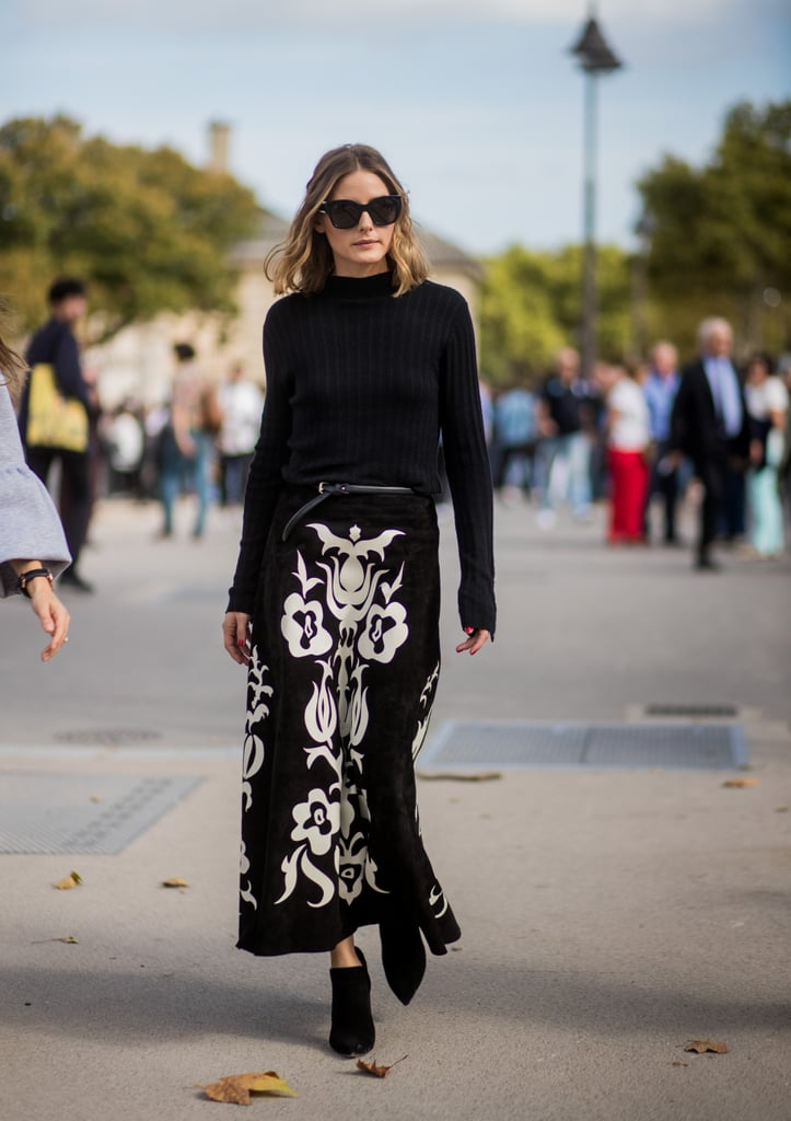All black with a eye-popping white florals for the Nina ...