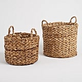 Natural Banana Leaf Multi Weave Naomi Baskets