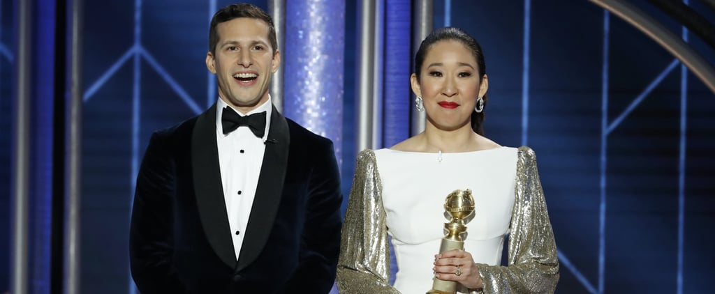 Andy Samberg Crying When Sandra Oh Won a Golden Globe Video