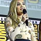 Pictured: Florence Pugh at San Diego Comic-Con.