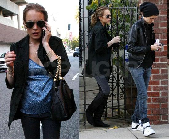 Photos of Lindsay Lohan and Samantha Ronson at Medical Center in LA