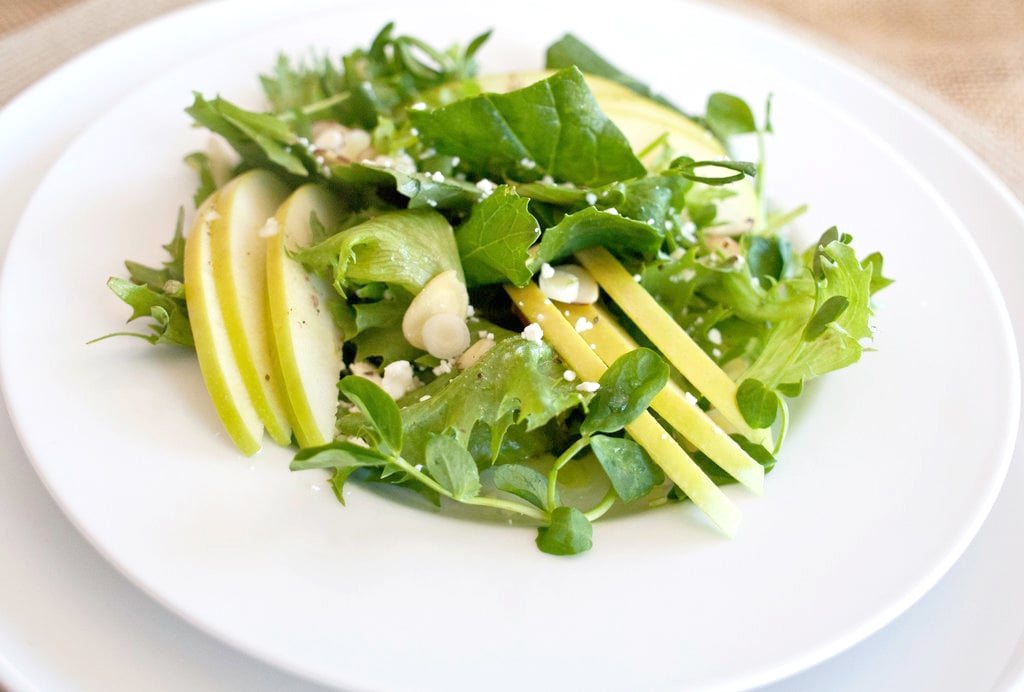 First Course: Salad With Green Apples and Green Tea Dressing
