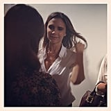After showing her Victoria Beckham collection, Posh cracked a smile. Source: Instagram user lauracraik