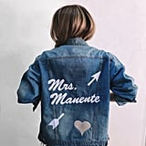 Mrs. Custom Embroidered Denim Jacket