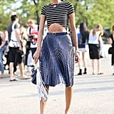 Giovanna Battaglia provided a tutorial in how to rock the crop top.