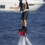 Leonardo DiCaprio had a year full of memorable moments, but his turn on the futuristic Fly Board was one of our favorites.
