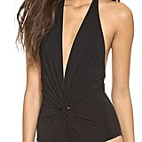 Karla Colletto Low Back Plunge One Piece Swimsuit ($221)