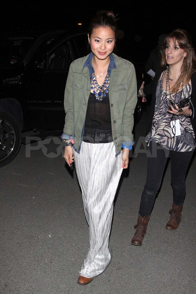 Jamie Chung wrapped up her Saturday night at Neon Carnival, where we saw her with Bryan Greenberg.