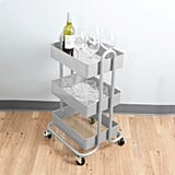 Mind Reader Heavy Duty Three Tier Metal All Purpose Mobile Utility Cart