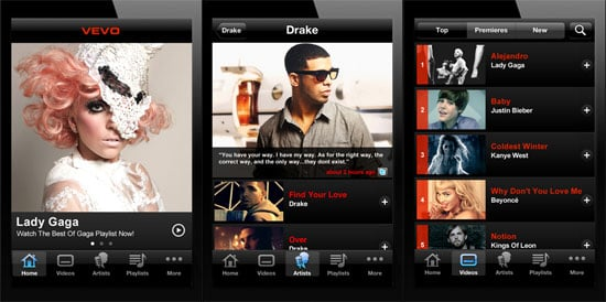 Vevo iPhone App