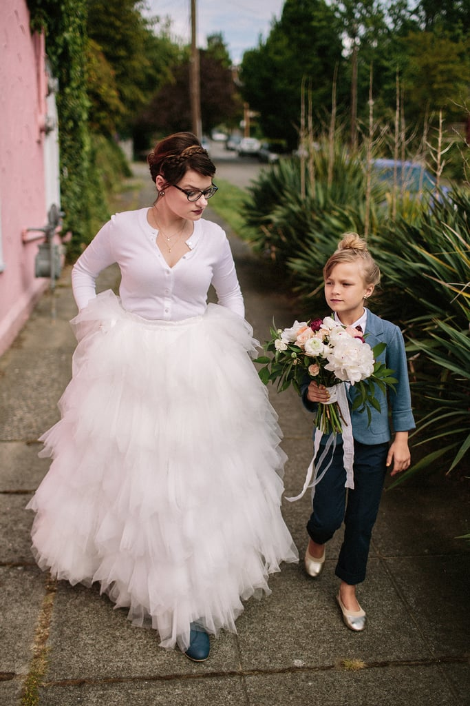 Little Girl Is Ring Bearer in Mom\'s Wedding | POPSUGAR Moms
