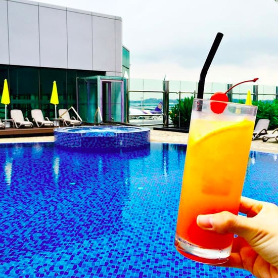 Changi Airport Rooftop Pool in Singapore
