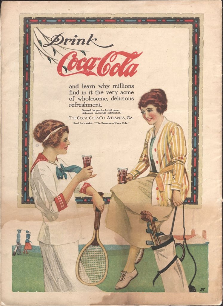 Cool off after a vigorous game of tennis and golf with a Coke.