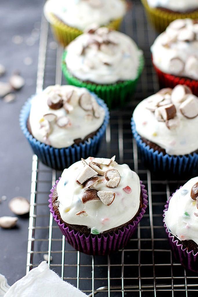 Malted Chocolate Fudge Cupcakes