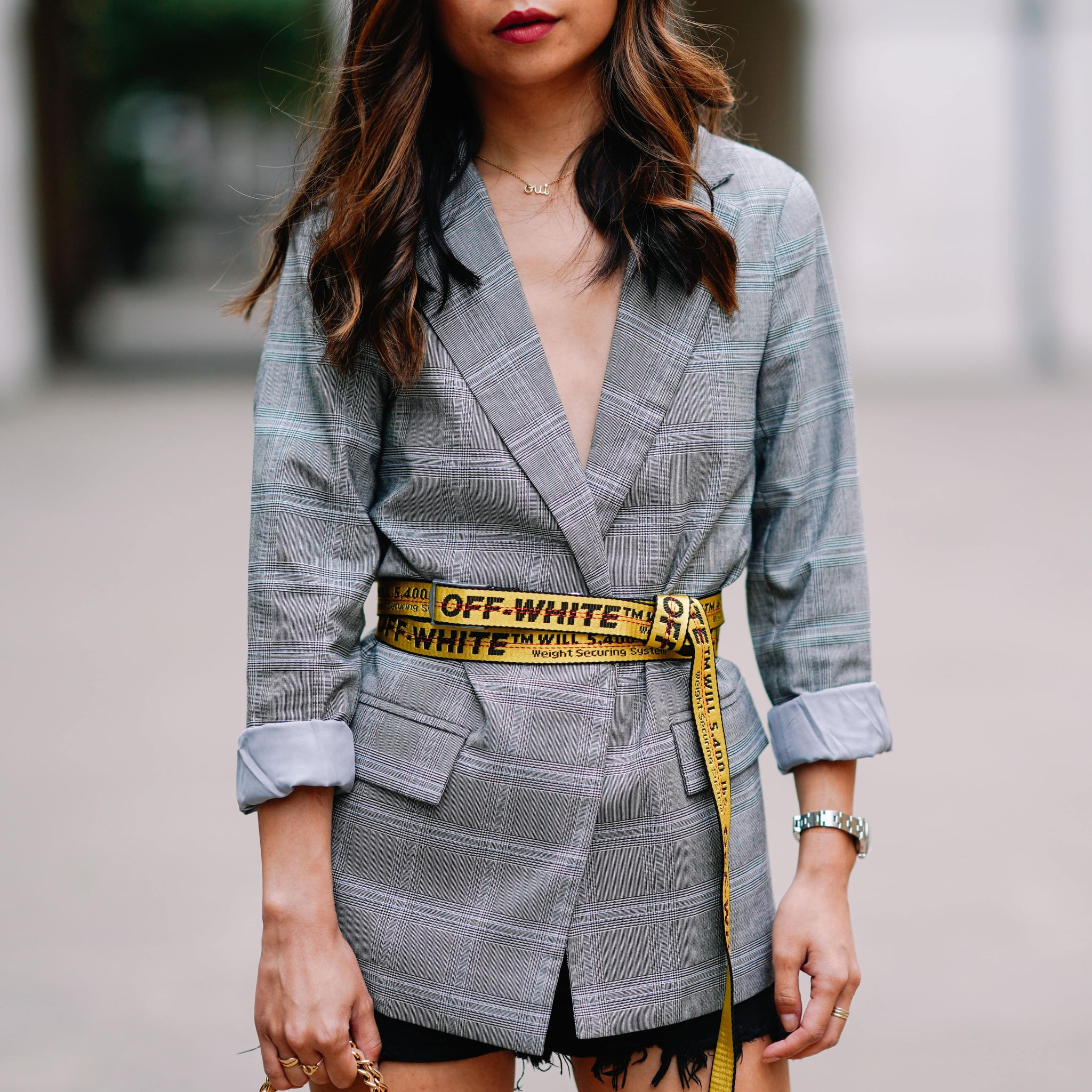 cac32561445 How to Wear the Off-White Belt | POPSUGAR Fashion