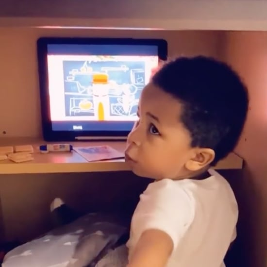 Funny Video of a Toddler Sitting Inside an Empty Cabinet