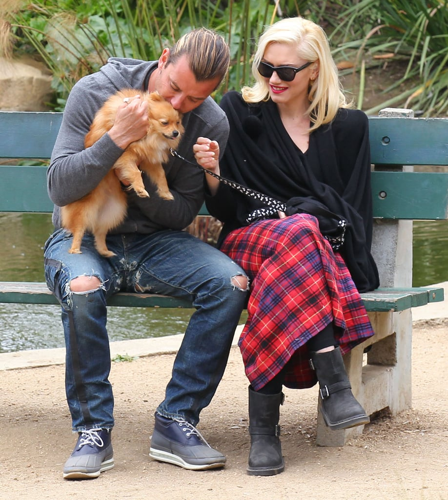 In April 2013, the two shared a sweet park date with their dog in LA.