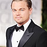 Leonardo DiCaprio slicked his hair back on the red carpet.