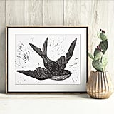 Swallow Art Print ($27)