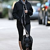 Nicole Richie wore workout clothes for a walk with Iro.