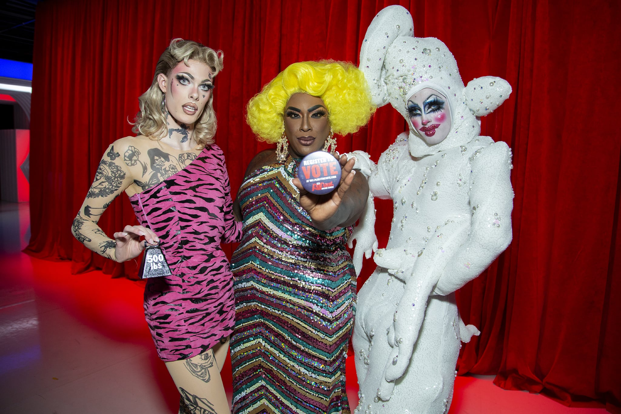 NEW YORK, NEW YORK - FEBRUARY 26: Gigi Goode, Widow Von'Du and Crystal Methyd attend 'RuPaul's Drag Race Season 12' Meet the Queens at TRL Studios on February 26, 2020 in New York City. (Photo by Santiago Felipe/Getty Images)