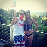 Kenny Wormald got patriotic at a rooftop party. Source: Instagram user kennywormald