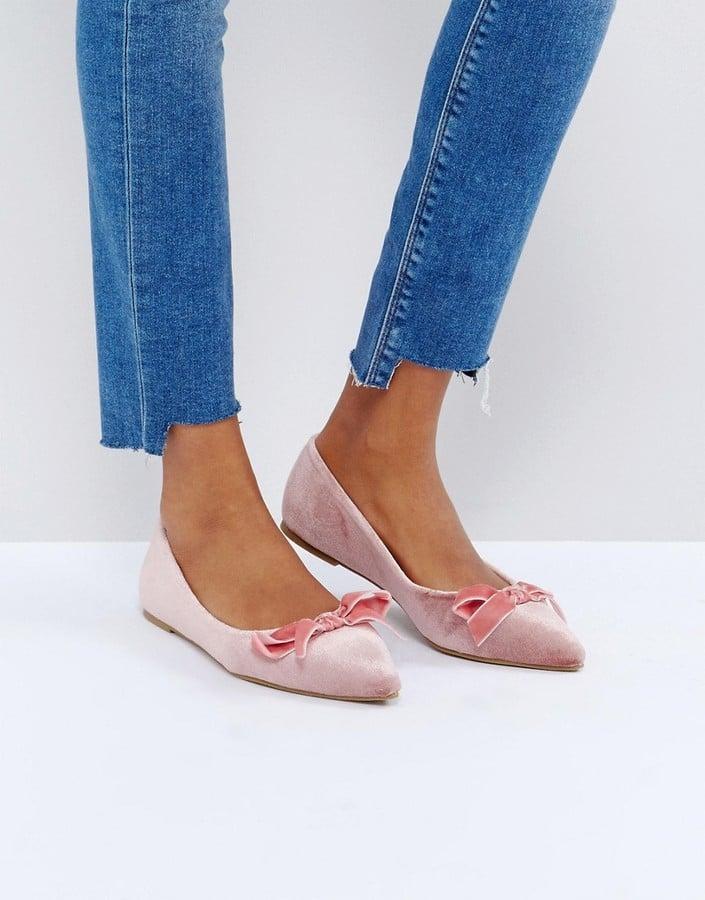 Glamorous Bow Ballet Flats