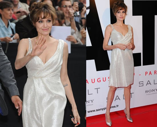 Pictures of Angelina Jolie at Salt Photo Call in Paris