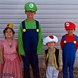 Mario, Luigi, Toad, and Princess Peach