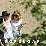 Miley Cyrus pictured wearing her Neil Lane engagement ring after getting engaged to Liam Hemsworth last week.