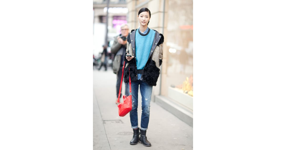 A Shot Of Sky Blue Was An Unexpectedly Simple And Powerful Little Best Winter Street Style