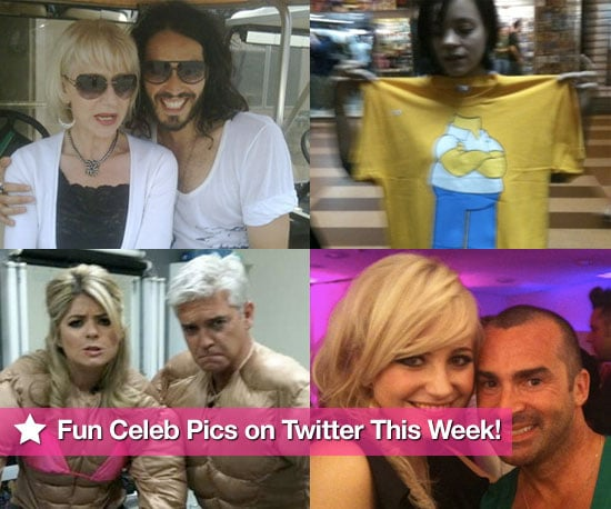 Fun Celebrity Pictures on Twitter Featuring Russell Brand, Dougie Poynter, Louie Spence, Helen Mirren and More