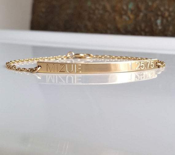 Nameplate Bracelet With Date