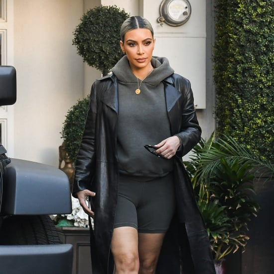 Kim Kardashian Wearing Yeezy Clear Heels