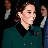 The Duchess of Cambridge in a Crescent-Moon-Shaped Jane Taylor Headband