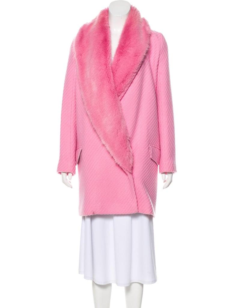 Shrimps Wool Faux Fur Coat
