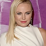 Upon first glance, you would think Malin Akerman had an appointment with the shears, but it's just a super-straight, slicked-back style.