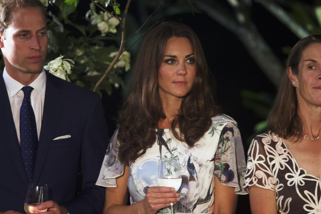 Kate Middleton toasted with water in Singapore.
