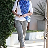 Emily Blunt sported cute boots and a scarf in West Hollywood.